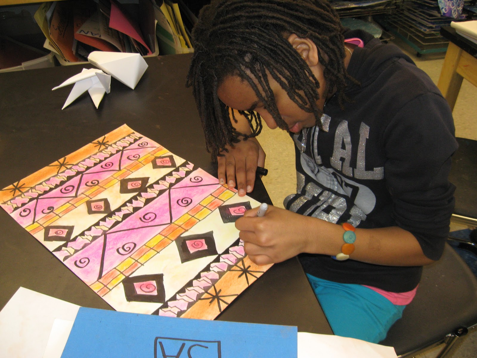 Jamestown Elementary Art Blog 5th Grade Georgia O Keeffe And Native American Textiles