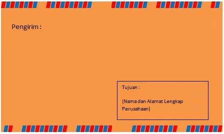 Membuat Format Amplop Surat Lamaran Pekerjaan Lowongan Kerja Terbaru