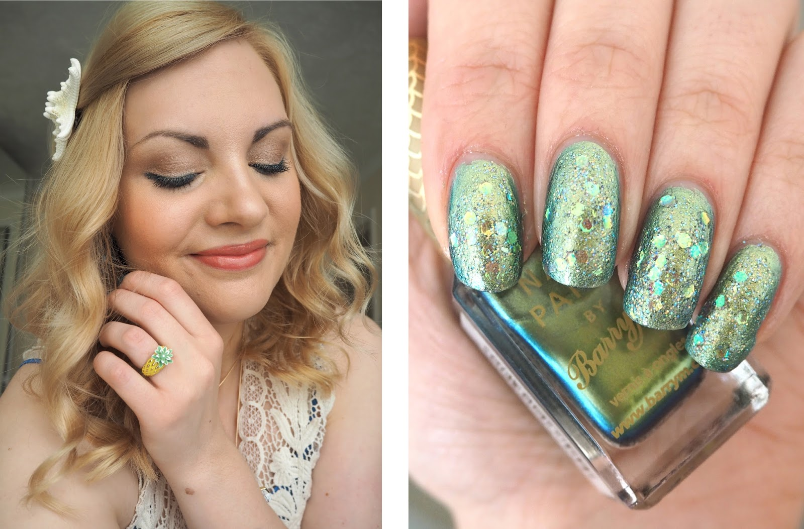 Mermaid Inspired Outfit, Mermaid Make Up Look, Mermaid Nails, Mermaid Accessories, Little Mermaid Ariel Style | Katie Kirk Loves Blog