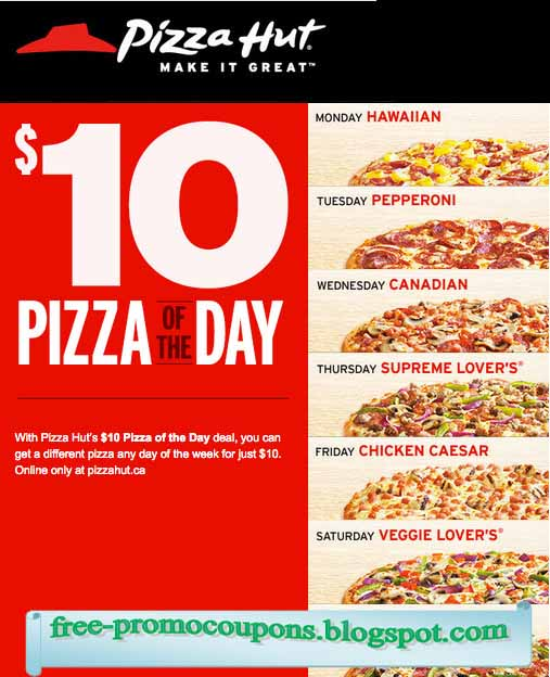 Free pizza hut coupon codes