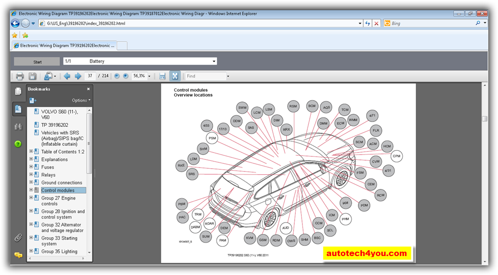 Volvo Cars    Wiring    Diagrams    2011