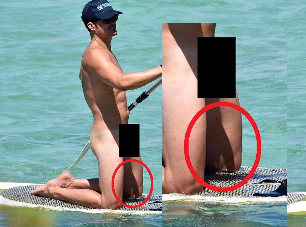 news orlando bloom zeigt seinen penis beim nackt paddeln