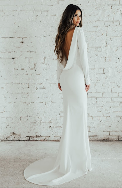 K'Mich Weddings - wedding dresses - cowl deep cut low back - katie may paloma