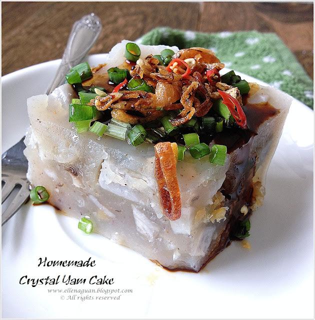 Homemade Crystal Yam Cake 水晶芋头糕