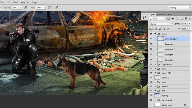 41 Tutorial Photoshop Dramatic Manipulation WAR part 2