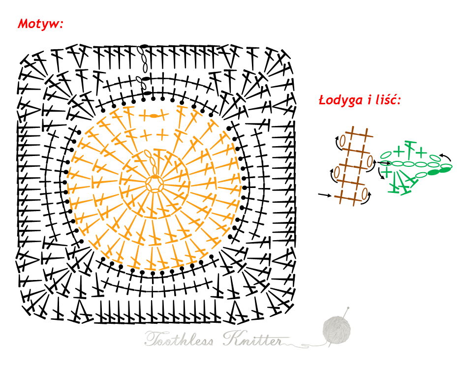 Granny Squares and Motifs: Pumpkin / Granny Squares i Motywy: Dynia