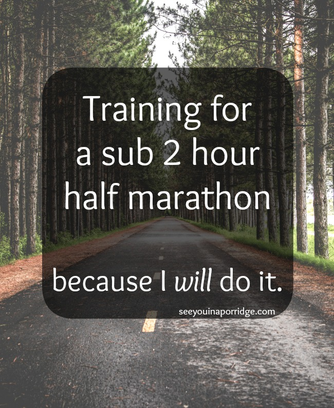 Training for a sub 2 hour half marathon