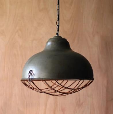 rustic metal pendant light