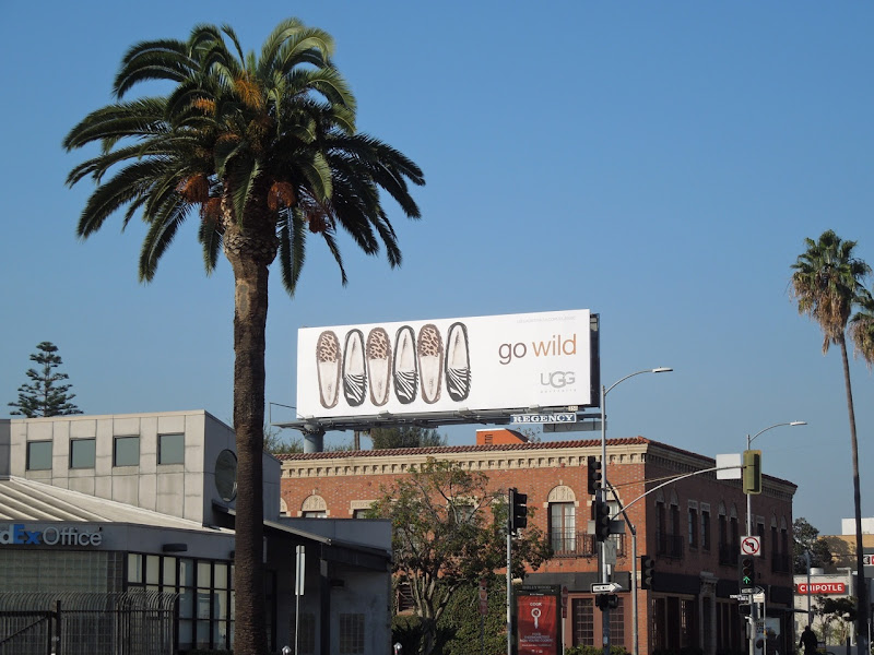 UGG Go Wild slipper billboard