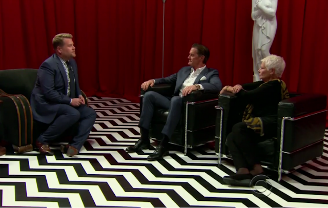 TWIN PEAKS   James Corden porta Judi nella Red Room