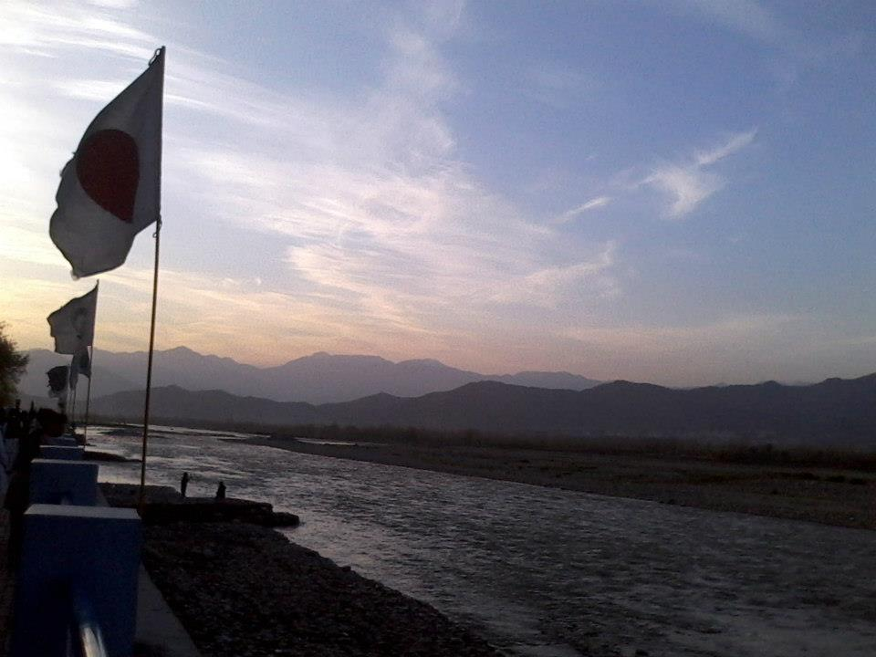 Swat River near Fiza Ghat Park. Swat Pakistan