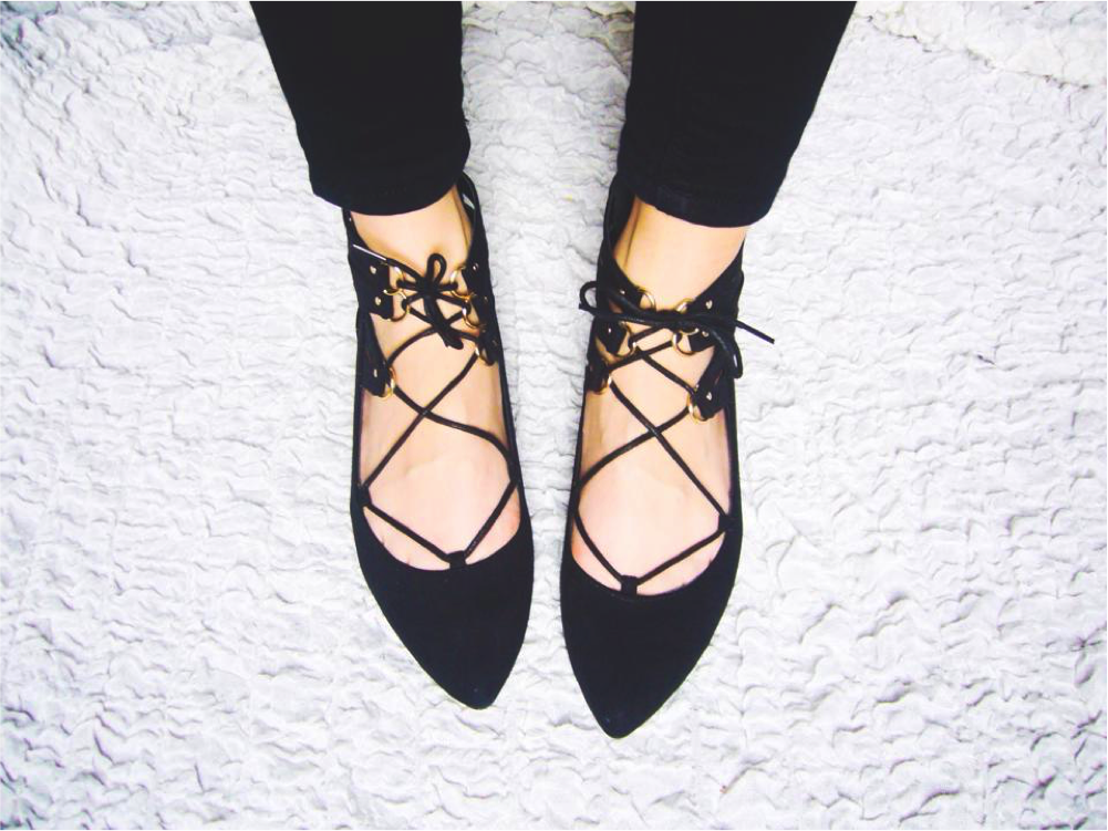 clothes and stuff designer shoe dupes new look lace up flats pointed toe shoes ballet flat pumps