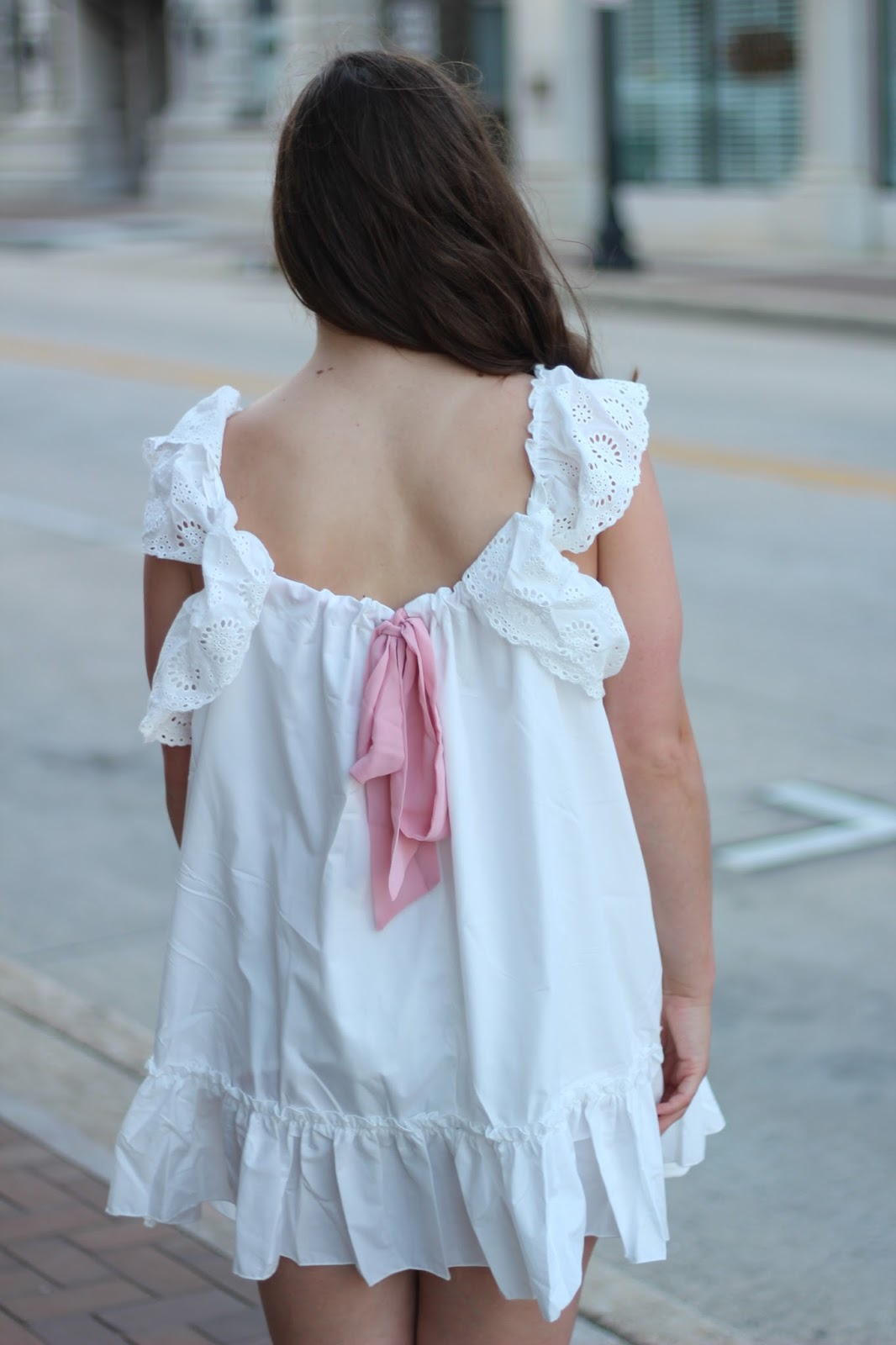 pink bow babydoll dress shein