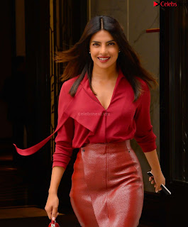 Priyanka Chopra in Red Leather Jacket ~ .xyz Exclusive 003