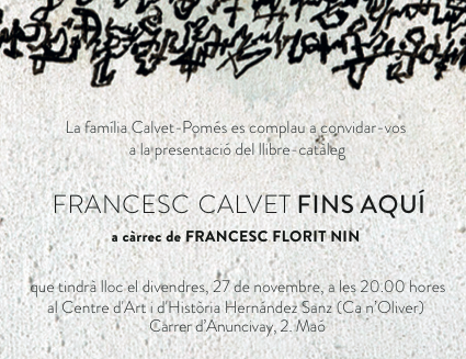 prova de lletra: Francesc Calvet, la carta que no t'arribarà