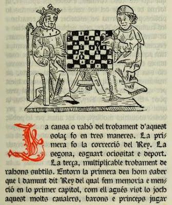 Detalle del libro De les costums dels homes i oficis dels noble de Jacobus de Cessulis