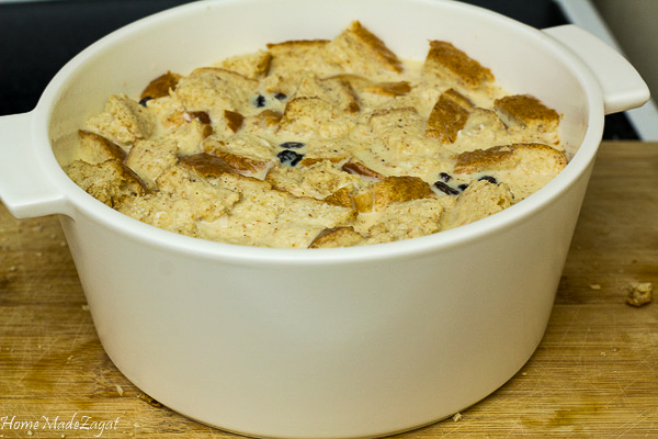 Easy recipe for coconut bread pudding
