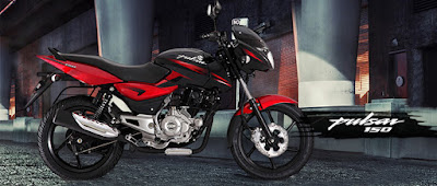 Bajaj Pulsar 150 side view red image