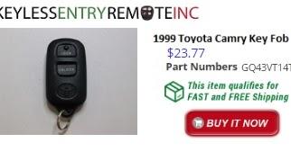 1999 toyota camry key fob remote programming instructions key fob programmi. Black Bedroom Furniture Sets. Home Design Ideas