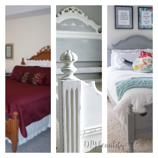 chalky painted bed before and after