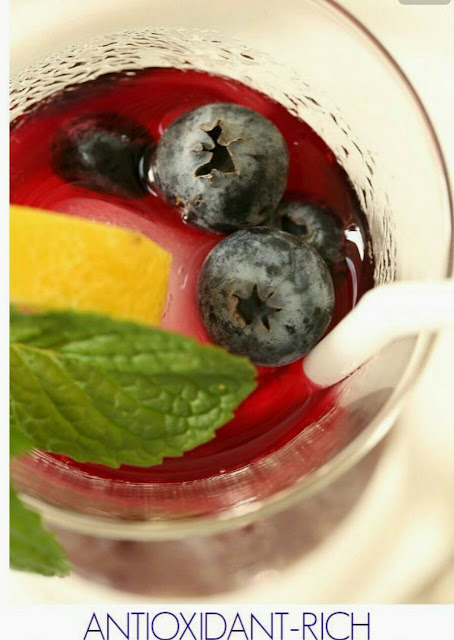 Antioxidant-rich Blue berry tea