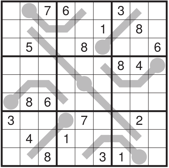 Thermo Sudoku Puzzle (Fun With Sudoku #305)