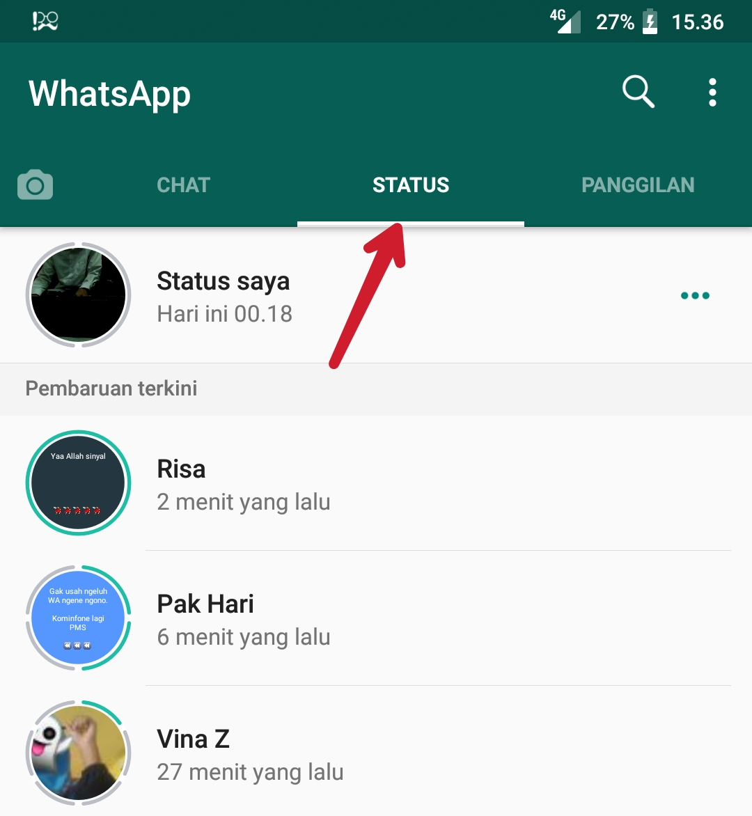Cara Menyembunyikan Status Wa Dari Kontak Orang Lain Tutorial Android