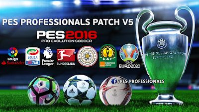 PES 2016 PESProfessionals Patch v5.0 AIO Season 2016/2017