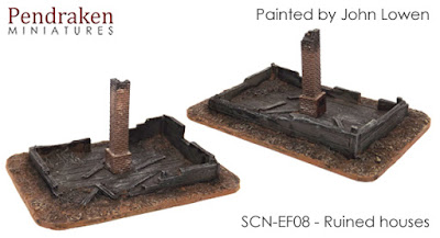 SCN-EF08    Ruined houses (x2)    £5.00