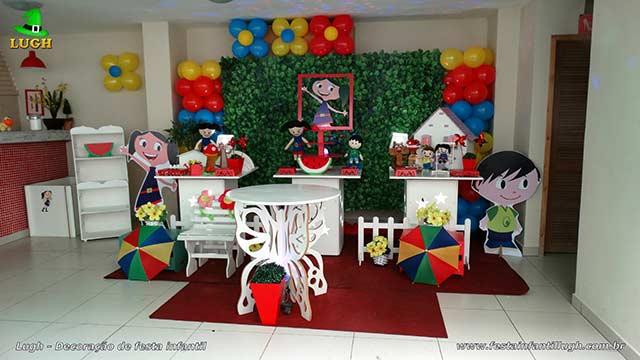 Decoração infantil Show da Luna para festa de aniversário - Decoração provençal simples - Barra- RJ