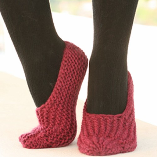 Adorable Drop Slippers - Free Pattern