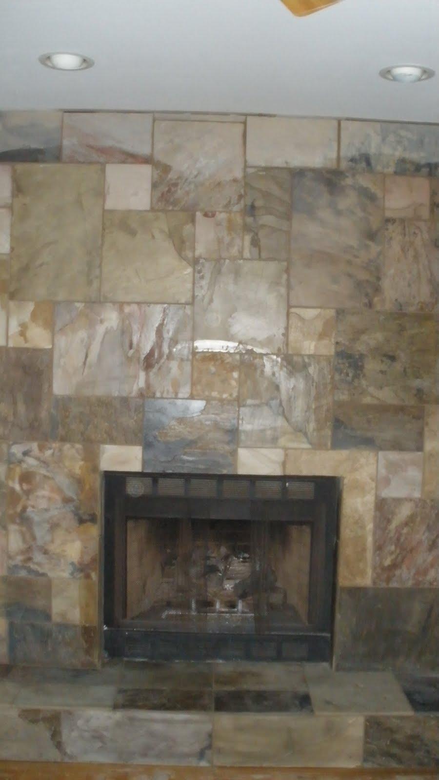slate fireplace | Tile & Stone By Design, LLC ( Kerdi ...