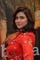 Mannara Chopra in deep neck Short red sleeveless dress Cute Beauty ~  Exclusive Celebrities Galleries 016.JPG
