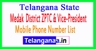 ZPTC Member Vice-President Mobile Numbers List Medak District in Telangana State