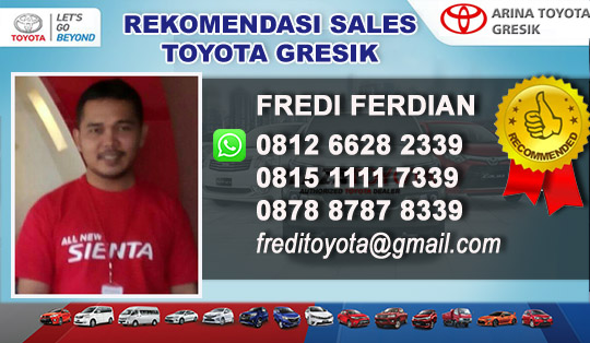 Rekomendasi Sales Arina Toyota Gresik 2018