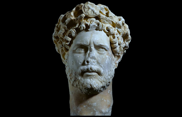Portrait of Emperor Hadrian at the Acropolis Museum, Athens