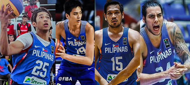 Gilas Pilipinas' 20-man pool for the FIBA Basketball World Cup 2019 Asian Qualifiers (5th Window)