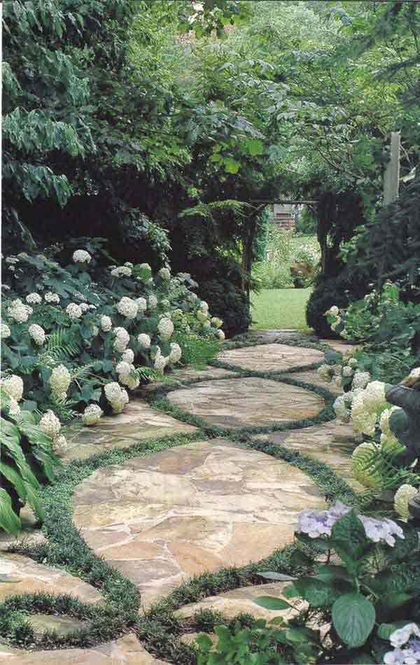 mineral elements are slowly directed by green elements trough the garden being completely subdued to their magic cast a glance at the selection and notice - Diy Garden Path Ideas