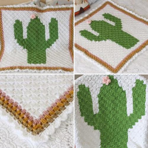 C2C Cactus Baby Blanket - Free Pattern