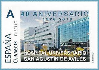 Sello personalizado del 40 aniversario del Hospital Universitario de San Agustín