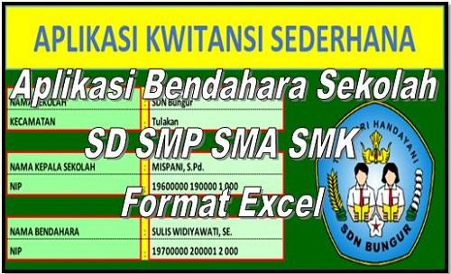 Download Aplikasi Bendahara Sekolah SD SMP SMA SMK Format Excel