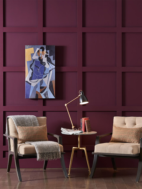 sherwin williams merlot painted walls