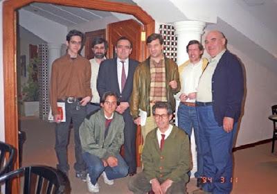 Javier Rodríguez Ibrán con Joaquín Pérez de Arriaga en Linares 1994