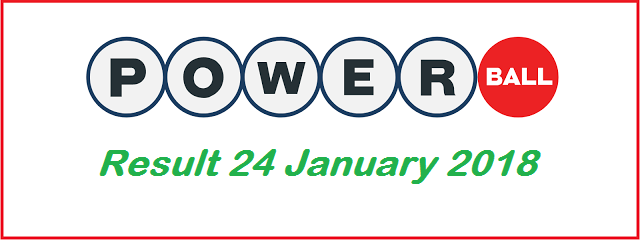 Powerball Winning Numbers for Wednesday, 24 January 2018