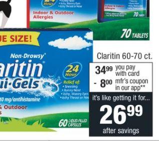 Claritin 60-70 ct. - $34.99