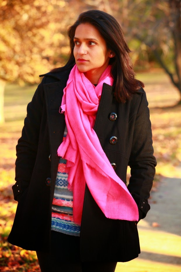 Sweater - ASOS Jeans - Joe's Coat - Miss Sixty  Boots - Wanted Scarf - From India, Tanvii.com