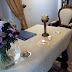 Mesa preparada para una ceremonia en Elvas (Portugal)