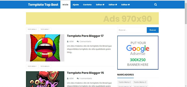 Templates gratuitos para o Blogger