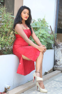 Mamatha sizzles in red Gown at Katrina Karina Madhyalo Kamal Haasan movie Launch event 038.JPG