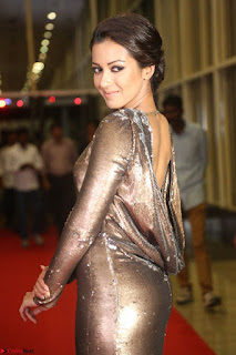 Actress Catherine Tresa in Golden Skin Tight Backless Gown at Gautam Nanda music launchi ~ Exclusive Celebrities Galleries 044.JPG